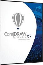 NEW Corel Draw X7 Technical Suite w/ Designer Photo Paint 17 PC SEALED