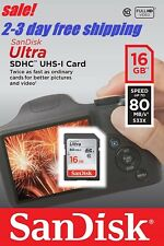 SanDisk Ultra 16GB SD Card Class10 80MB/s Memory Card Quick transfer speeds