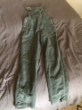 Mini Boden Green Corduroy Overalls Floral Lining Size 9-10 Youth Girls