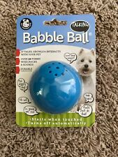 Pet Qwerks Talking Babble Ball TOUCH ACTIVATED Interactive Dog Toy FUN Wisecrack