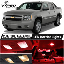 2007-2013 Chevy Avalanche Red LED Interior Lights Package Kit