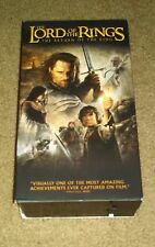 The Lord of the Rings: The Return of the King (VHS, 2004, 2-Tape Set)