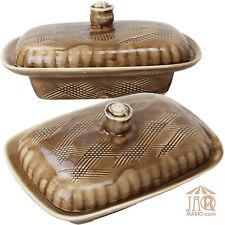 Mantequera grande Campana de mantequilla Para 250 g Caja m Tapa moteadas rústico