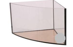 Eck Aquarium 57 x 57 x 40 cm Delta 6 mm Floatglas  Becken Gebogen 80 L