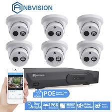 (6)2MP 1080P HD ARRAY IR CCTV IP DOME Camera 8CH Net P&P POE NVR Security System