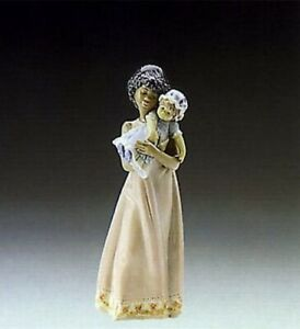LLADRO BABY DOLL LLADRÓ 5608 BLACK LEGACY COLLECTION MINT GIRL W BOX RETIRED