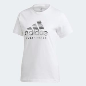 Adidas Women's Volleyball T-Shirt, White