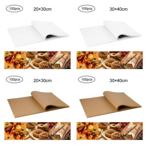100 PCS Disposable NonStick Food Wrapping Wax Paper Sandwich Candy Wrap Paper UK