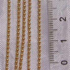 2 mètres chaine bille boule metal dore 1,5mm colliers bracelets *O165