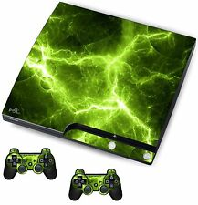 Green Electric Sticker/Skin PS3 Playstation 3 Console/Remote controllers,psk18