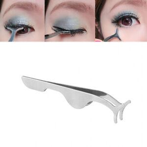 False  Eyelashes Clip EyeLash Tweezers Applicator Eye Lash Aid Forcep Tool