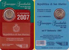 2007 San Marino 2 Euro Giuseppe Garibaldi - Stempelglanz - im Original-Folder