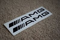 Mercedes AMG Sports Car Vehicle Logo Race Racing Speed Decals Stickers 50mm