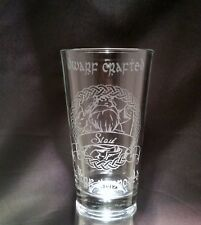 """LOtR inspired """"Dwarf Stout"""" Etched Pint Glass"""