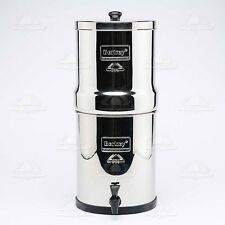Big Berkey Stainless Water Filter with 4 Black Filters Water Level Spigot New