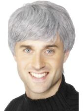 Grey Corporate Wig Adult Mens Smiffys Fancy Dress Costume