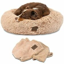 New listing Pet Craft Supply Ultra Plush Calming Anti-Anxiety Pet Bed - Includes Super So.