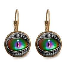 Attractive Dragon's Eye Bronze Trendy Glass cabochon 18 MM Lever Back Earrings