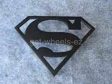 Grill Badge Emblem Billet Superman Logo Matte Black