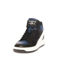 RRP €150 BARCELON Leather Sneakers EU 44 UK 10 US 11 High Top Made in Italy