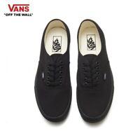VANS Authentic Black Classic Canvas Street Style Fashion Sneakers,Shoes Men's