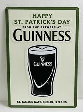 Guinness Sign Happy St Patrick's Day Draught Stout St James Gate, Dublin Ireland