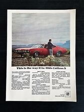 Vintage 1968 Oldsmobile Olds Cutlass S -  Full Page Color Ad