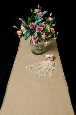 10 TABLE RUNNERS! 2.4M QUALITY BURLAP JUTE HESSIAN VINTAGE WEDDING RUNNERS BULK