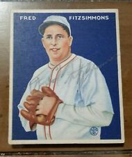 Signed in pencil - 1933 Goudey #235 Fred Fitzsimmons HOF JSA LOA autograph auto
