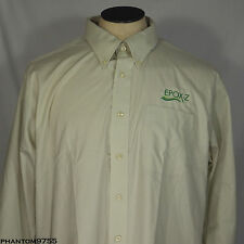 LL Bean Button Front Shirt Advertising EPOX-Z Wrinkle and Stain Resistant XL NWT