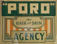 "TIN SIGN ""Poro Hair Skin"" Barber  Art Deco Garage Wall Decor"