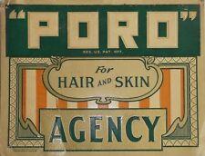 "TIN SIGN ""Poro Hair Skin"" Barber  Art Deco Garage Wall Decor"
