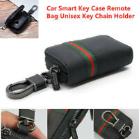 Universal Car Smart Key Case Remote Controller Bag Key Chain Cover Zipper Pouch
