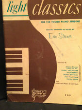 Vintage Light Classics Young Piano Student Lesson Book Great Master Songs 1959