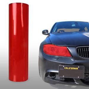 """Red Tint Headlights Tail Lights Fog Lights Vinyl Film 12"""" x 48"""" - Suzuki Subaru"""