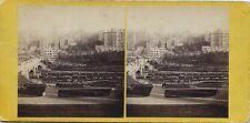 Edinburgh UK Waverley Bridge Vintage Stéreo / Stereowiew albumine