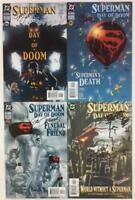 Superman Day of Doom #1 to #4 complete signed series with COA (DC 2003) hi grade