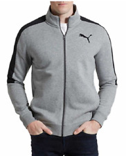 PUMA Men's French Terry Fleece Track Jacket Gray Heather Size Large