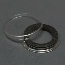 (25) Genuine Air-Tite Coin Holders Brand Black Ring Type Coin Capsules Protect