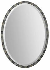 Pieced Oval Decorative  Beveled Wall Mirror 29""
