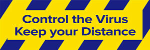 Control the Virus Keep Your Distance Floor Social Distancing Sticker Sign