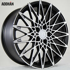 18X8 AodHan LS001 5X112 +40 Black Rims Fits VW cc eos golf rabbit