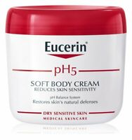 Eucerin pH5 Body Cream pH Balance System Moisturize Dry Sensitive Skin 450ml New