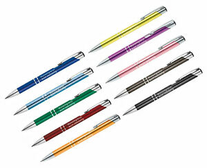 Metall Kugelschreiber mit Gravur, Wunschgravur, kugelschreiber individualisiert
