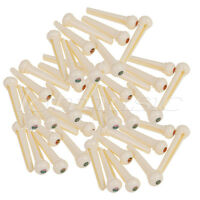 100pcs Cream Bridge Pins for Acoustic Guitar String Pins Plastics