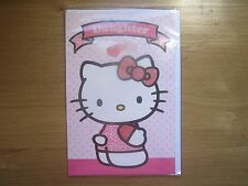 Sealed Happy Birthday Daughter Greeting Card Hello Kitty Glitter (1000)