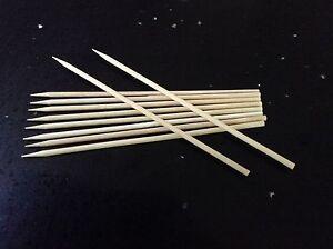 "Wooden 7"" Bamboo Skewers - BBQ FRUIT KEBAB CHOC FOUNTAIN - 50-100-200-400-1000"