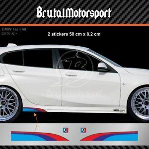 0505 Sticker bande BMW serie 1 F40 F20 F21 E87 E81 E82 adesivi couleur M-POWER