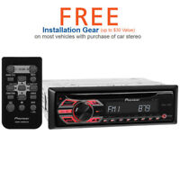 Pioneer DEH-150MP Single-DIN In-Dash CD Car Stereo (Free Upgrade to 2018 Model)