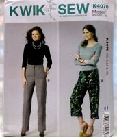 Kwik Sew K4070 Sizes XS-XL Misses Pants Zip Fly Waistband Darts 2 Lengths Uncut
